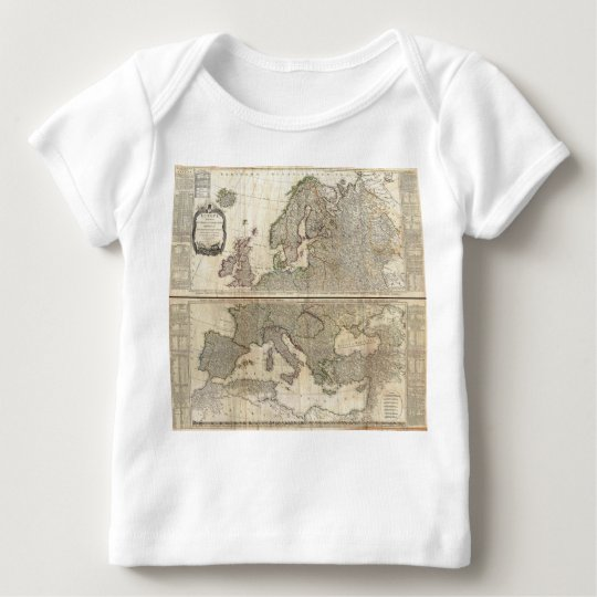 1794 D'Anville Two Panel Wall Map of Europe Baby T-Shirt