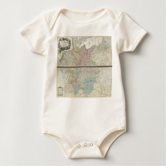 1794 Delarochette Map of the Empire of Germany Baby Bodysuit