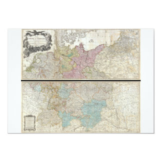 1794 Delarochette Map of the Empire of Germany Card