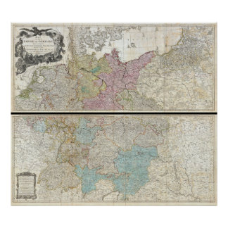 1794 Delarochette Map of the Empire of Germany Print