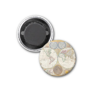 1794 Double Hemisphere Map Magnet