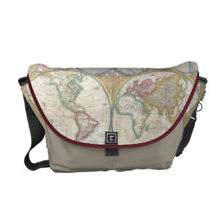 1794 Double Hemisphere Map Courier Bags