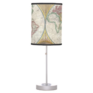 1794 Double Hemisphere Map Table Lamps