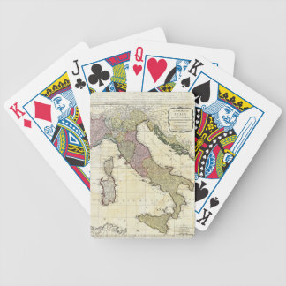 1794 Jean Baptiste Bourguignon D'Anville Italy Map Card Decks