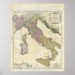 1794 Jean Baptiste Bourguignon D'Anville Italy Map Posters