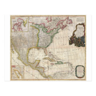 1794 Pownell Map of North America and West Indies Postcards