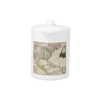 1794 Pownell Map of North America and West Indies Teapot