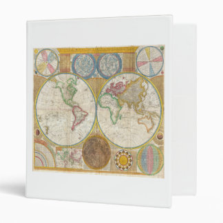 1794 Samuel Dunn Map of the World in Hemispheres Binder