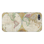 1794 Samuel Dunn Map of the World in Hemispheres Cover For iPhone SE/5/5s