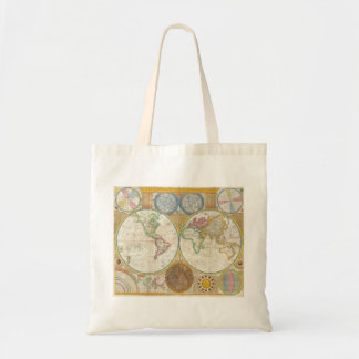 1794 Samuel Dunn Map of the World in Hemispheres Tote Bag