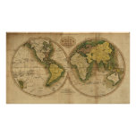 1795 Map of the World Print