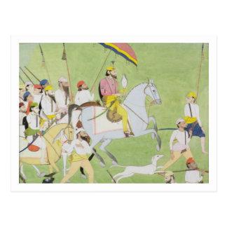 1796-1840) cazas de Rajah Dhian Singh (con compani Tarjetas Postales