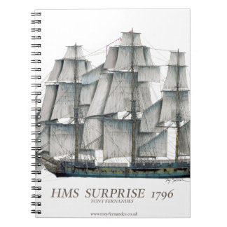 1796 HMS Surprise art Notebook