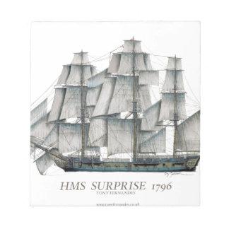 1796 HMS Surprise art Notepad