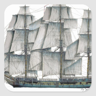 1796 HMS Surprise art Square Sticker