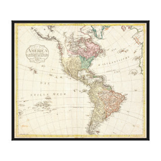 1796 Mannert Map of North and South America Canvas Print