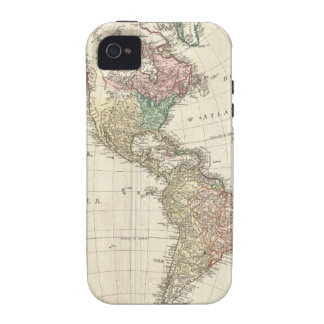 1796 Mannert Map of North and South America Case For The iPhone 4