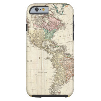 1796 Mannert Map of North and South America Tough iPhone 6 Case