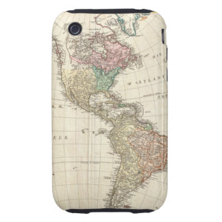 1796 Mannert Map of North and South America iPhone 3 Tough Cases