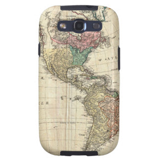 1796 Mannert Map of North and South America Samsung Galaxy S3 Cover
