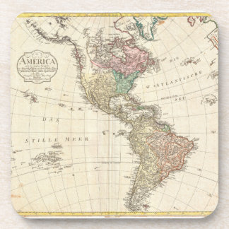 1796 Mannert Map of North and South America Coaster