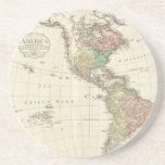 1796 Mannert Map of North and South America Coasters