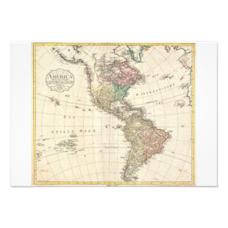1796 Mannert Map of North and South America Custom Invitation