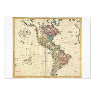 1796 Mannert Map of North and South America Announcements