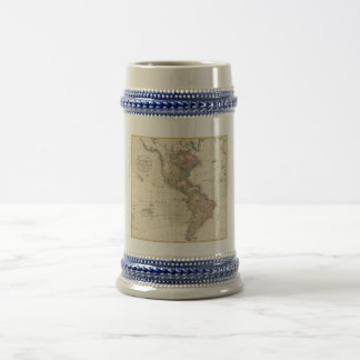 1796 Mannert Map of North and South America 18 Oz Beer Stein