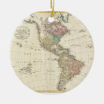1796 Mannert Map of North and South America Christmas Tree Ornament