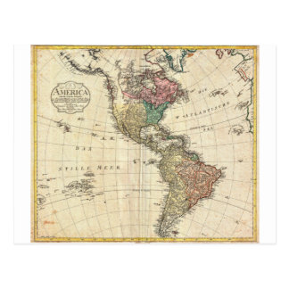 1796 Mannert Map of North and South America Post Cards