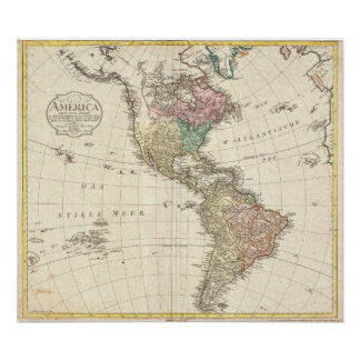 1796 Mannert Map of North and South America Poster