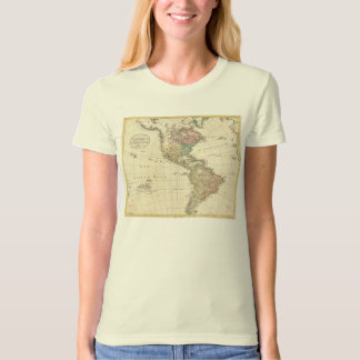 1796 Mannert Map of North and South America T Shirt