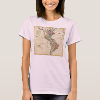 1796 Mannert Map of North and South America T-Shirt