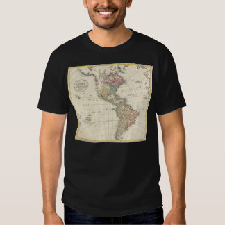 1796 Mannert Map of North and South America Tee Shirt