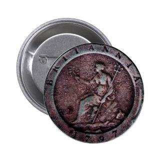 "1797 British ""cartwheel"" penny button"