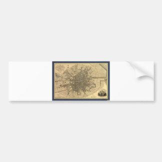 1797 Map of Dublin Ireland Bumper Sticker