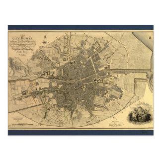 1797 Map of Dublin Ireland Postcard