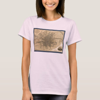 1797 Map of Dublin Ireland T-Shirt