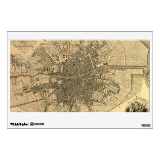1797 Map of Dublin Ireland Wall Decal