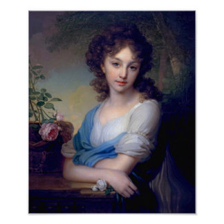 1799 - Portrait of Elena Alexandrovna Naryshkina Poster