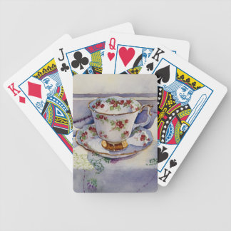 1799 Teacup on Linen Bicycle Playing Cards