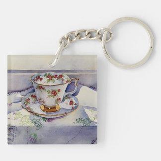 1799 Teacup on Linen Keychain
