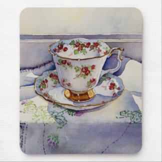 1799 Teacup on Linen Mouse Pad