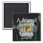 17:17 de los proverbios de la amistad condensado iman de frigorífico