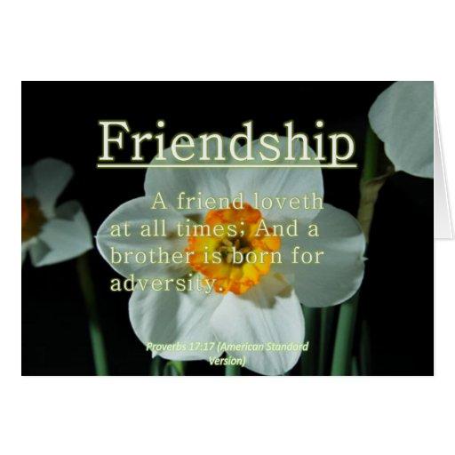 17:17 de los proverbios de la amistad felicitación
