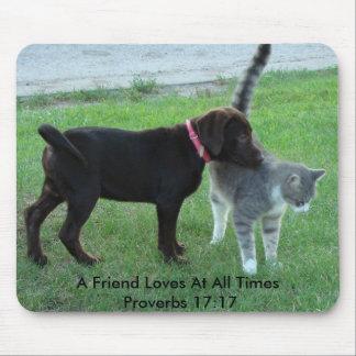 17:17 de los proverbios, un amigo ama en… alfombrillas de ratón