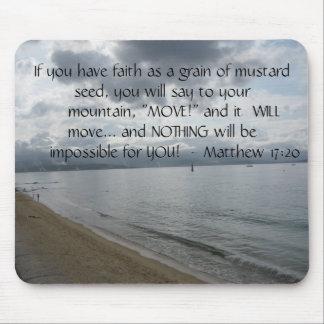 17:20 de Matthew - cita inspirada de motivación Alfombrillas De Ratones