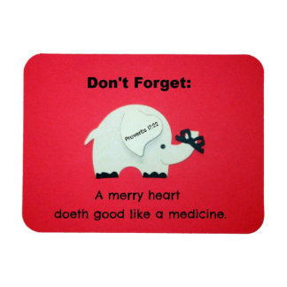 17:22 de los proverbios un feliz corazón Doeth bue Imán Rectangular