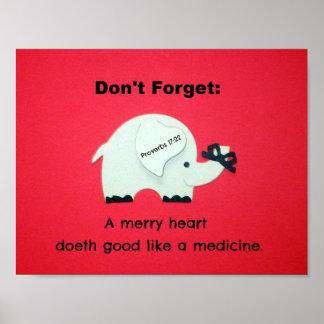 17:22 de los proverbios un feliz corazón Doeth bue Impresiones